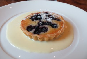 130630 Motion Blueberry Frangipani Tart with Anglaise